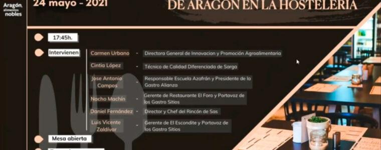 """Webinar: """"El valor de los alimentos de Aragón en la hostelería"""""""